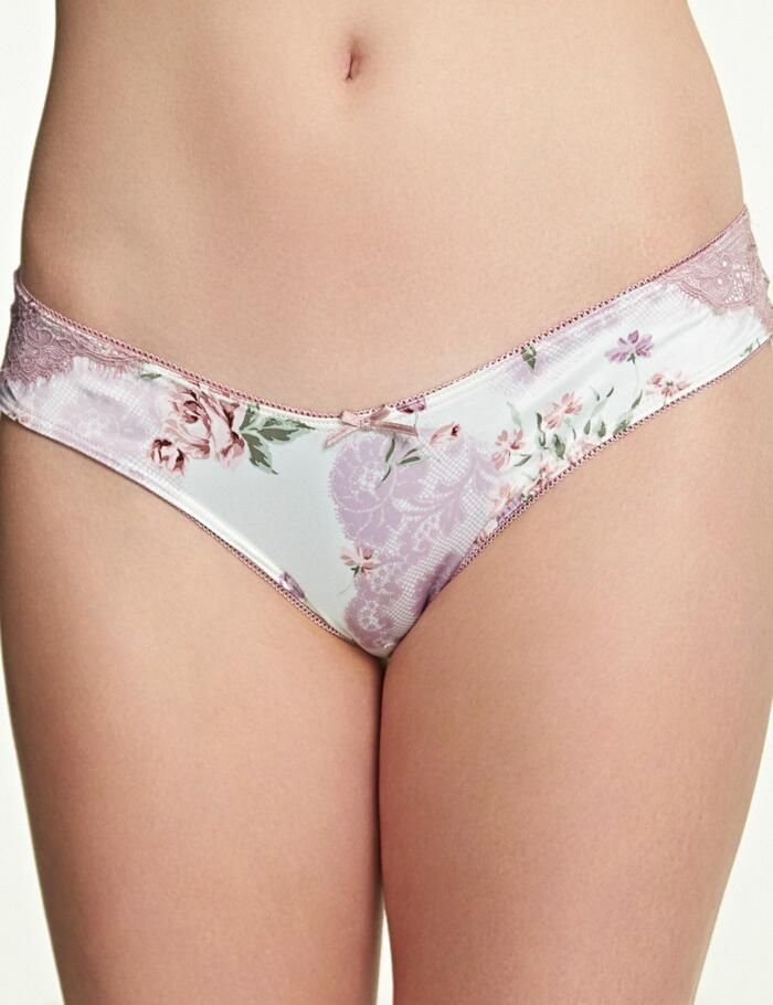 Royce English Rose Brazilian Brief - Floral Print