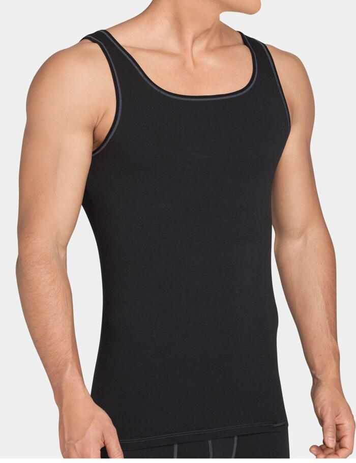 Sloggi Men Upgrade Sleeveless Vest- SH 02 - Black