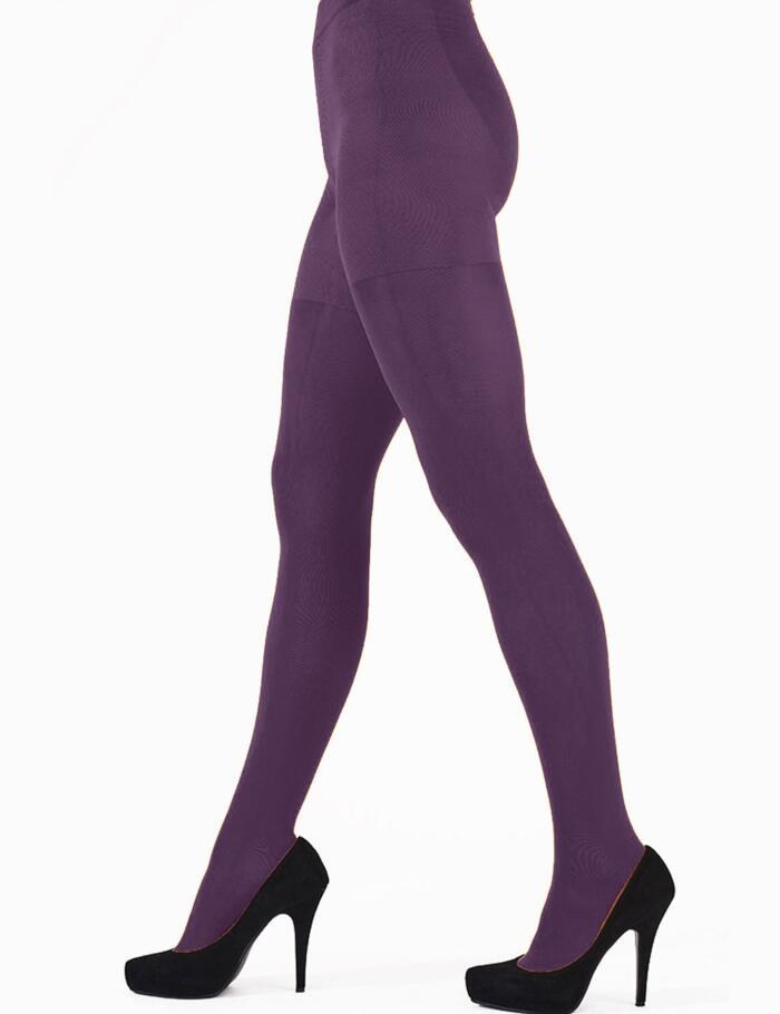 Pretty Polly 60 Denier 3D Colour Opaque Tights - Purple Lagoon