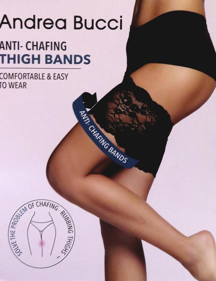 Andrea Bucci Anti-Chafing Lace Thigh Bands - Black