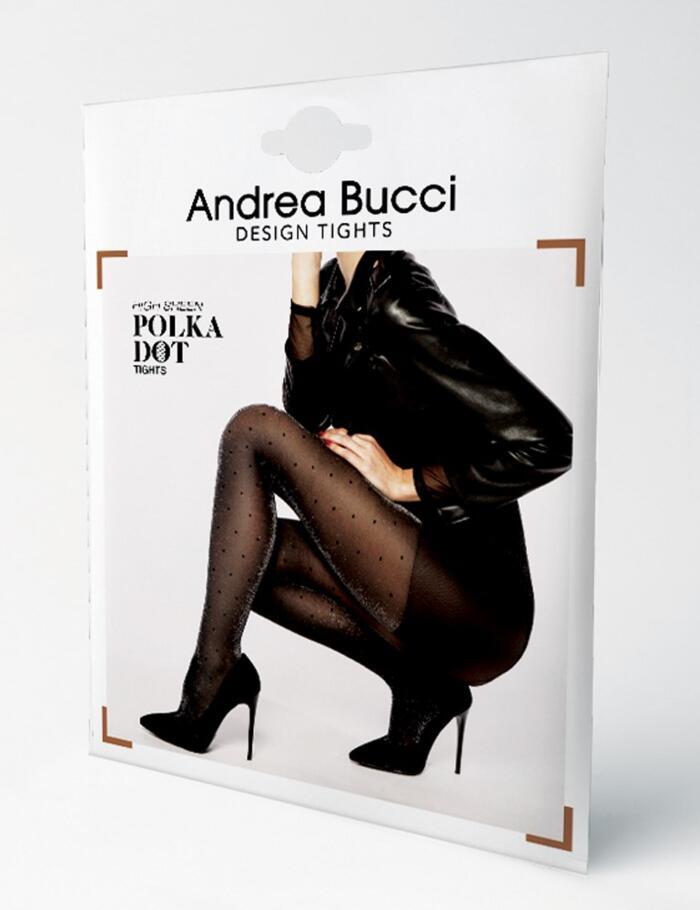 Andrea Bucci Polka Dot Lurex Tights - Black
