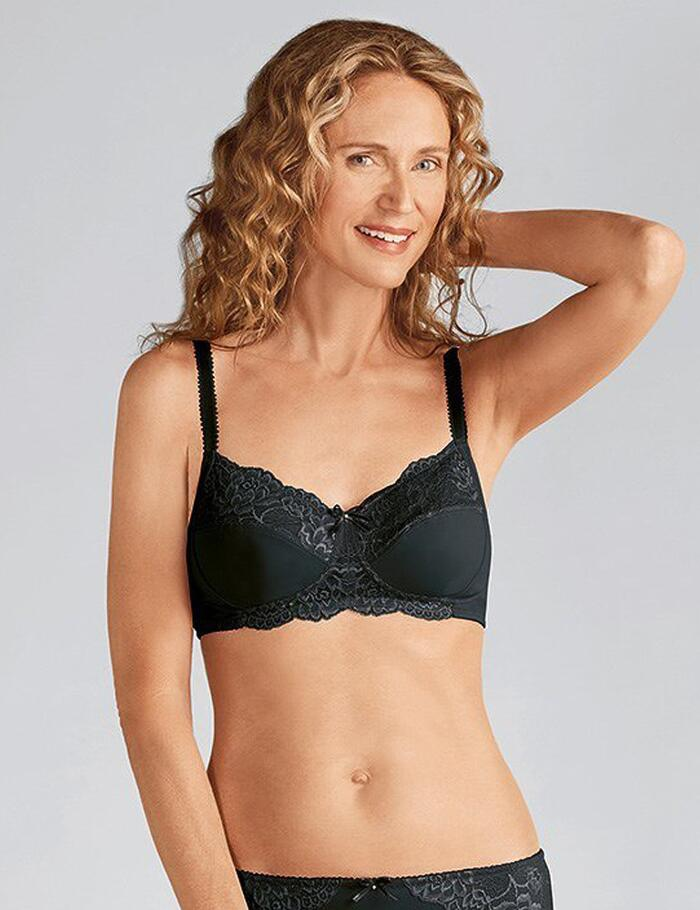 Amoena Lilly Non Wired Pocketed Bra - Black