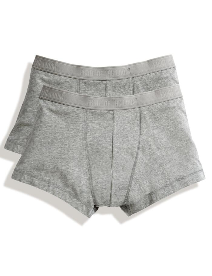 Fruit of the Loom Classic Boxer Trunks (2 pack) - Grey
