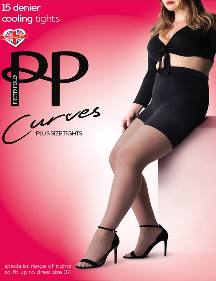 Pretty Polly Curves 15 Denier Cooling Tights - Black
