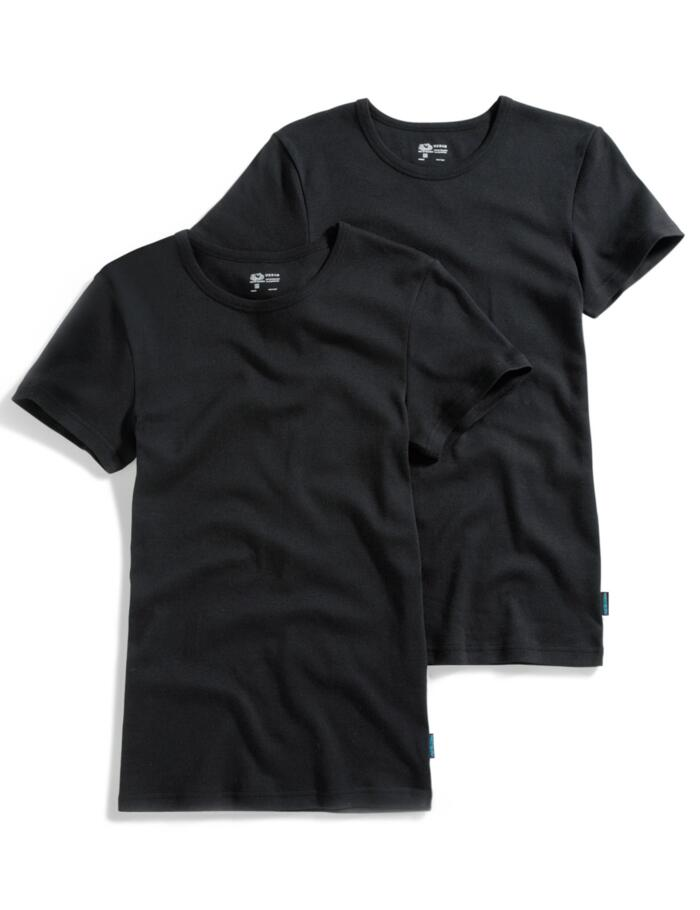 Fruit of the Loom Cotton T-Shirt Vests (2 pack) - Black