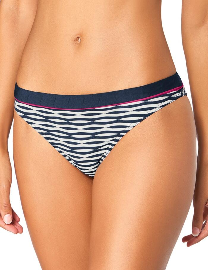 Triumph Waves of Light Tai Bikini Bottoms - Deep Water