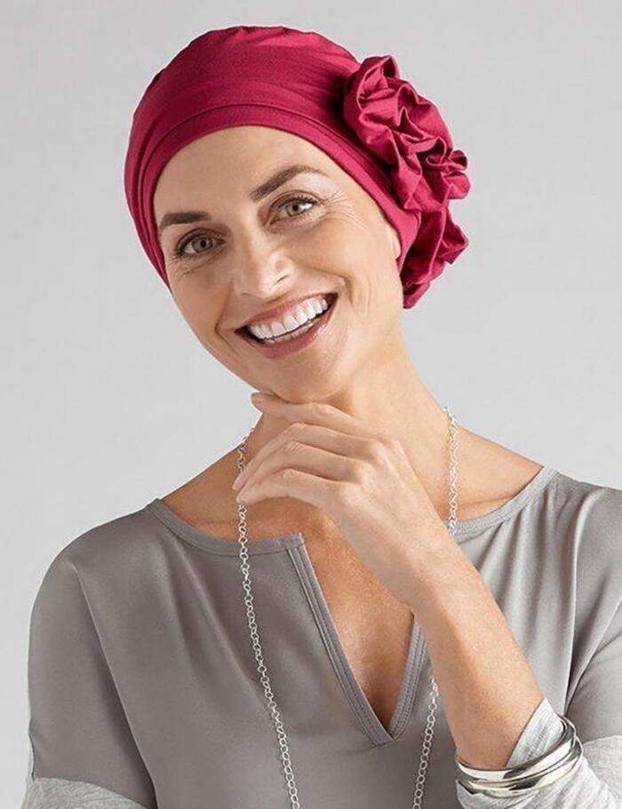 Amoena Marigold Turban - Berry Red