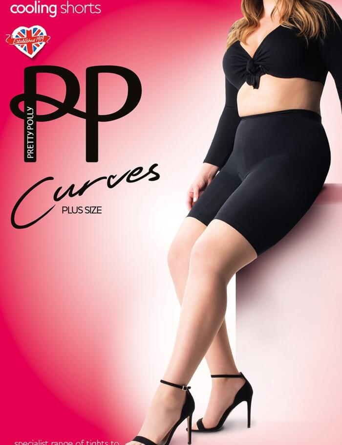 Pretty Polly Curves Cooling Shorts - Black