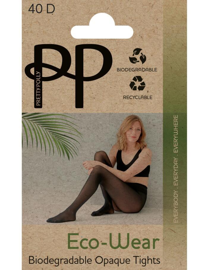 Pretty Polly 40 Denier Eco-Wear Tights - Black