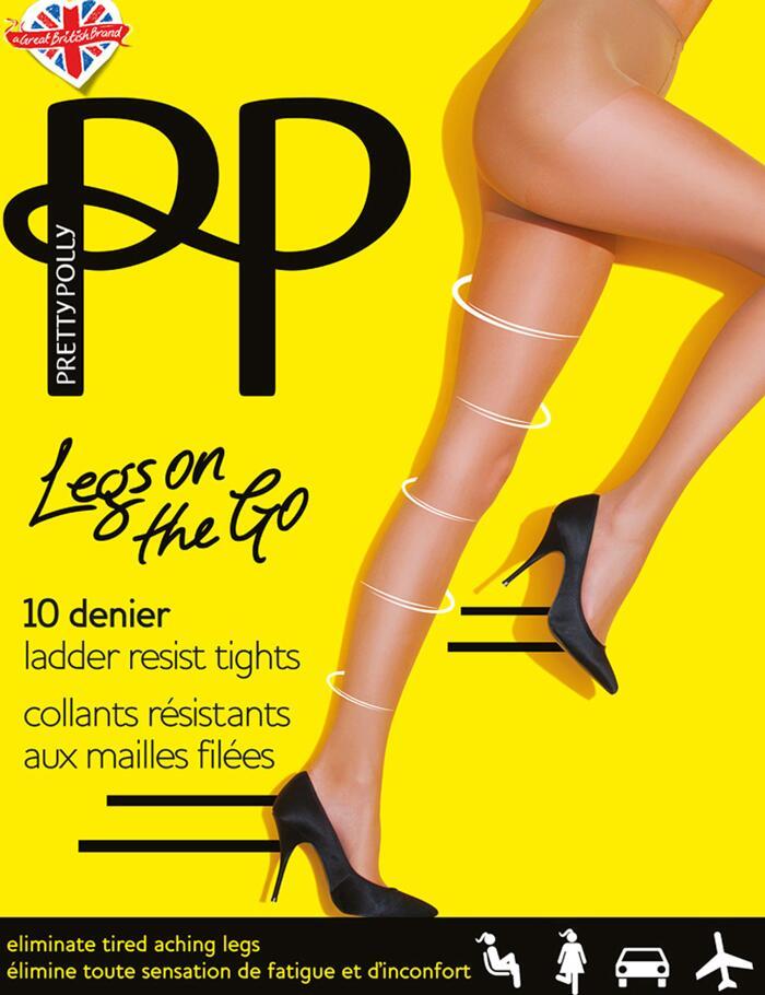 Pretty Polly Legs On The Go 10 Denier Tights - Nude