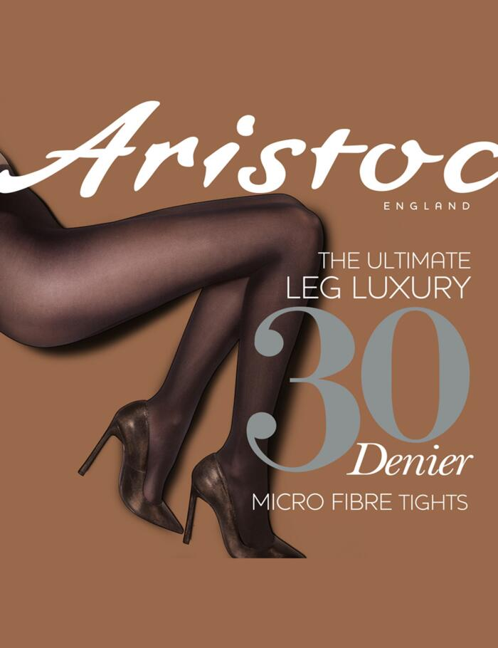 Aristoc 30 Denier Microfibre Opaque Tights - Black