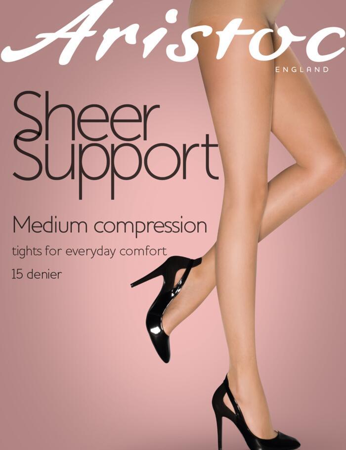 Aristoc Sheer Support Tights - 15 Denier - Nude