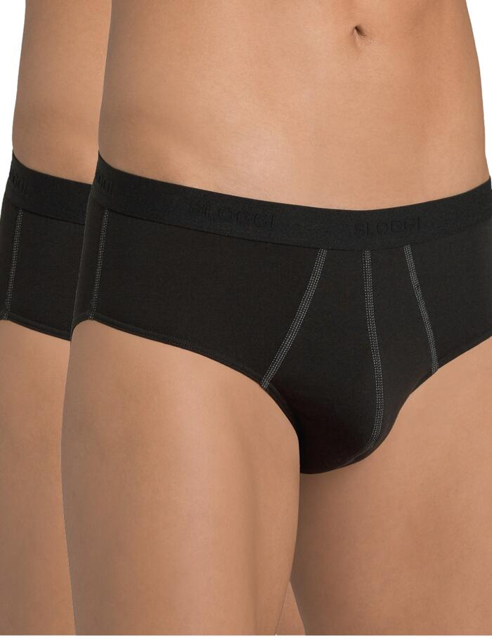 Sloggi Men 24/7 Midi Briefs (2 pack) - Black