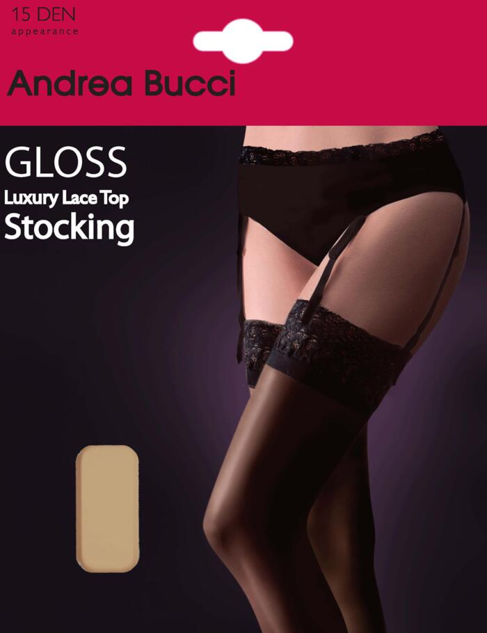 Andrea Bucci Gloss Stockings - 15 Denier - Natural