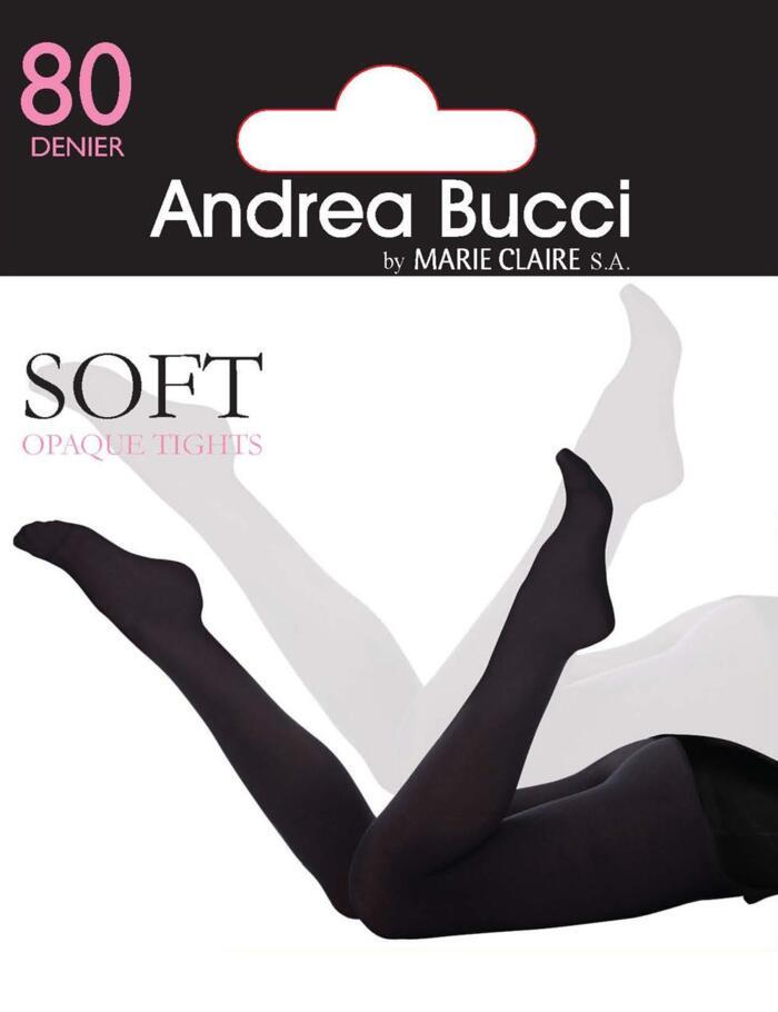 Andrea Bucci 80 Denier Opaque Tights - Black