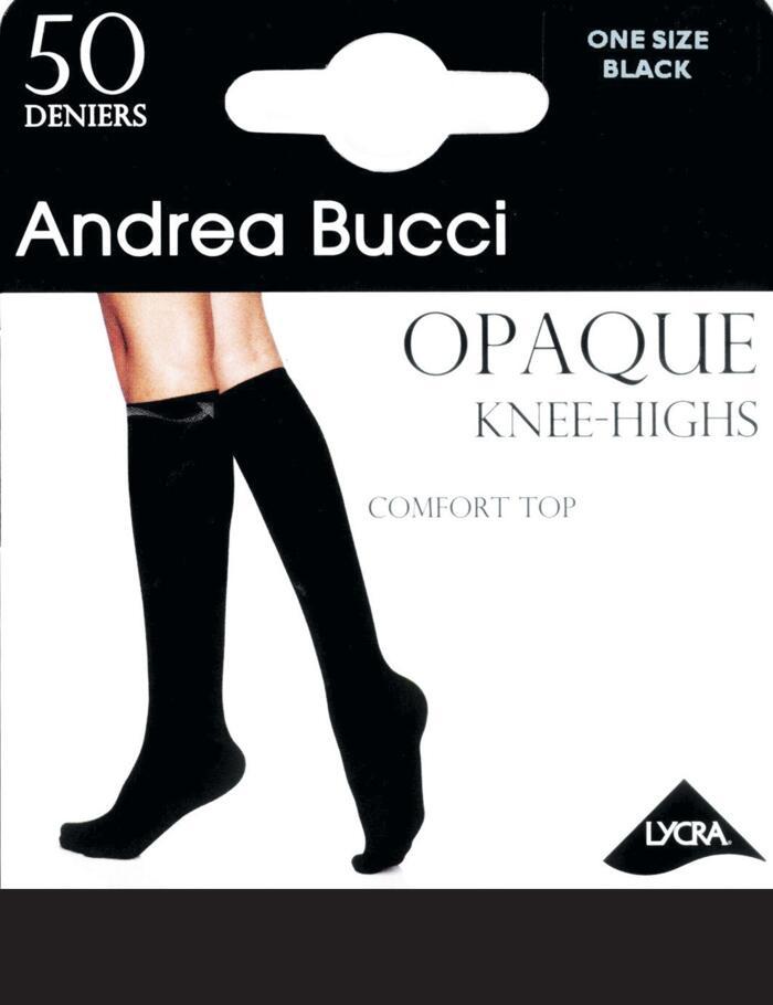 Andrea Bucci Comfort Top Knee Highs - 50 Denier - Black