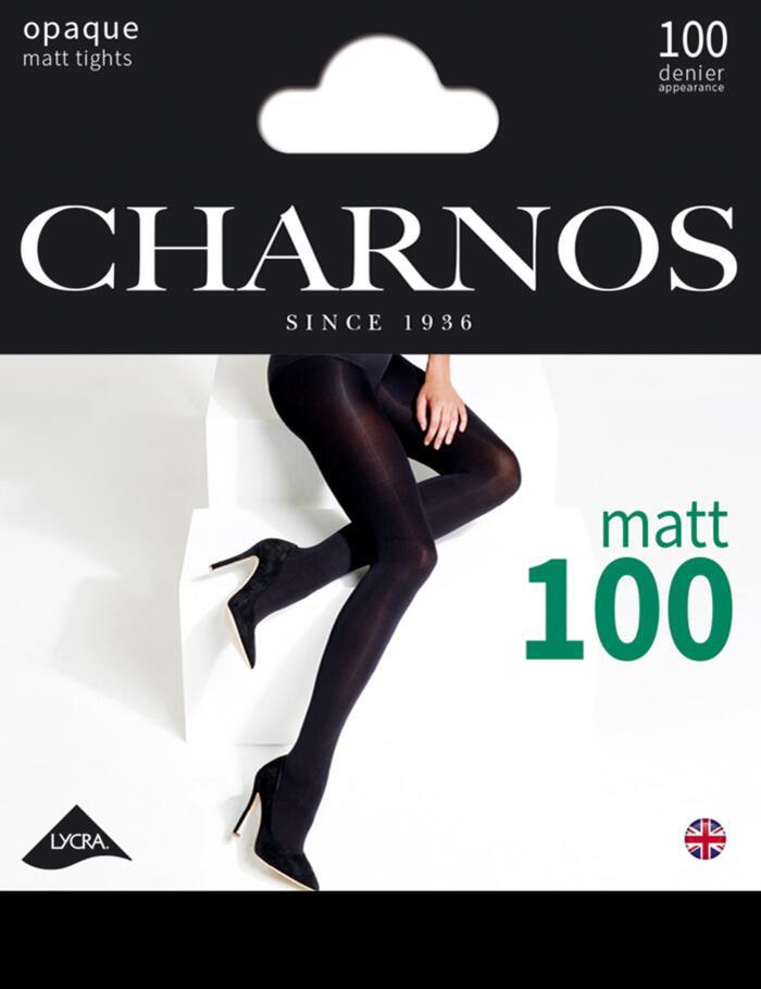 Charnos 100 Denier Opaque Tights - CAAY - Black