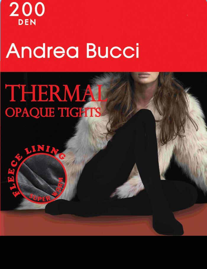 Andrea Bucci 200 Denier Thermal Tights - Black