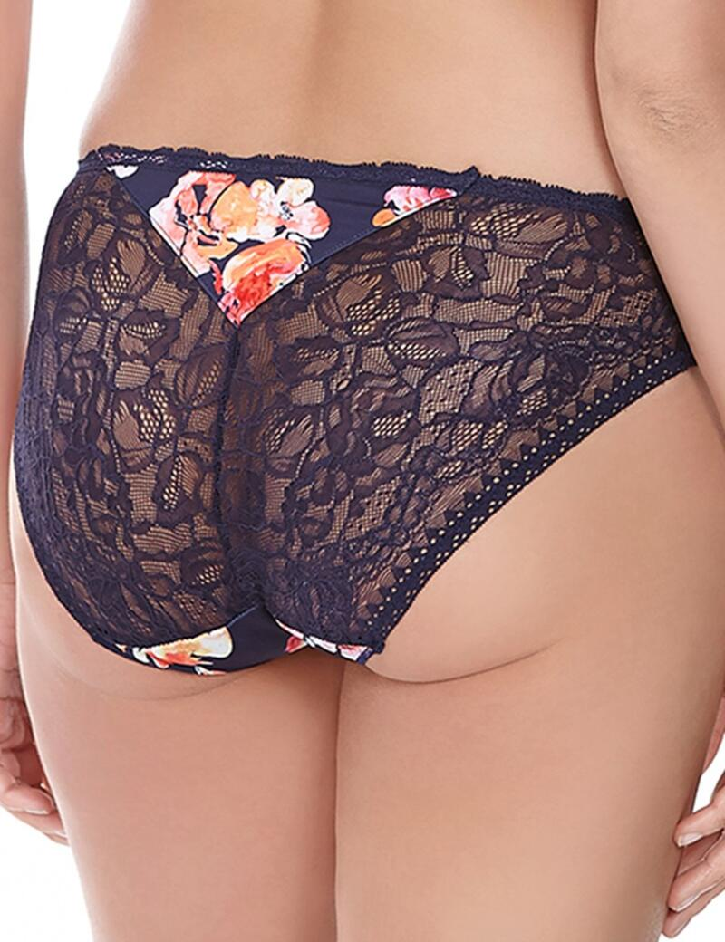 FANTASIE DARCIE BRA INK UNDERWIRED SIDE SUPPORT BALCONY BLUE FLORAL LACE 9372